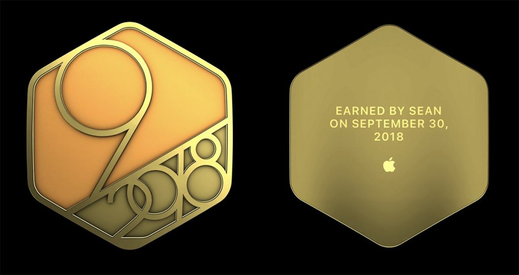 Apple Watch September 2018 Perfect Month Badge